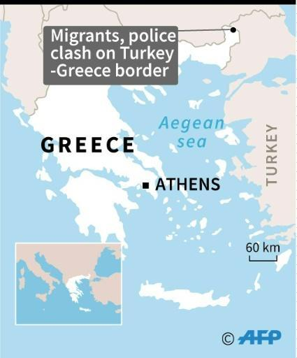Clashes erupted between police and migrants on the Greece-Turkey border, as refugee numbers swelled