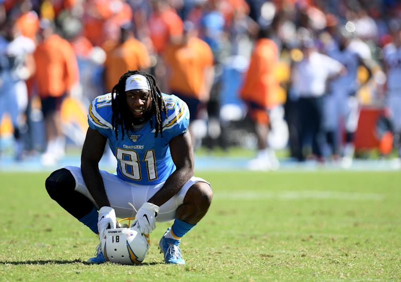 Mike Williams #81 of the Los Angeles Chargers