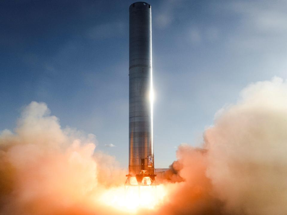 The first static fire test of SpaceX's Super Heavy Booster rocket took place on 19 July, 2021, in Boca Chica, Texas (SpaceX)