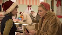 <p> Okay, so it&#x2019;s not the jolliest Christmas movie, we&#x2019;ll admit. But&#xA0;Carol&#xA0;is set around Christmastime, so it definitely counts as one. Based on Patricia Highsmith&#x2019;s novel The Price of Salt, the movie is set in 1950s New York City and follows Therese (Rooney Mara) and her infatuation with a glamorous older woman called Carol (Cate Blanchett). Therese, an aspiring photographer, is working in a department store to pay the bills, and the two meet when Therese helps Carol pick out a Christmas gift for her daughter.&#xA0; </p>