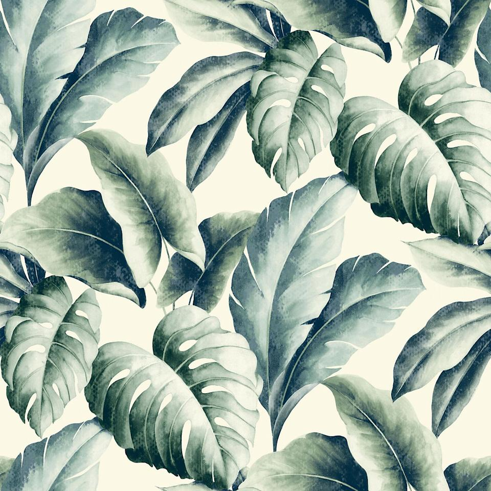 "<p><a class=""body-btn-link"" href=""https://www.diy.com/departments/gold-green-palm-leaf-wallpaper/1775211_BQ.prd"" target=""_blank"">BUY NOW</a> <em>£16, B&Q</em></p><p>This artistic and bold palm leaf print wallpaper takes a nod to sunnier days, and will instantly make your room feel brighter. You can opt for a standout feature wall, but it'll look brilliant pasted on all four walls. This is one of our favourites. <br></p><p><em>We earn a commission for products purchased through some links in this article.</em></p>"