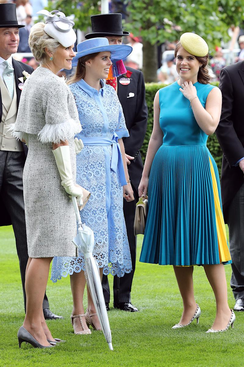 Princess Beatrice and Princess Eugenie. (Photo by Chris Jackson/Getty Images)