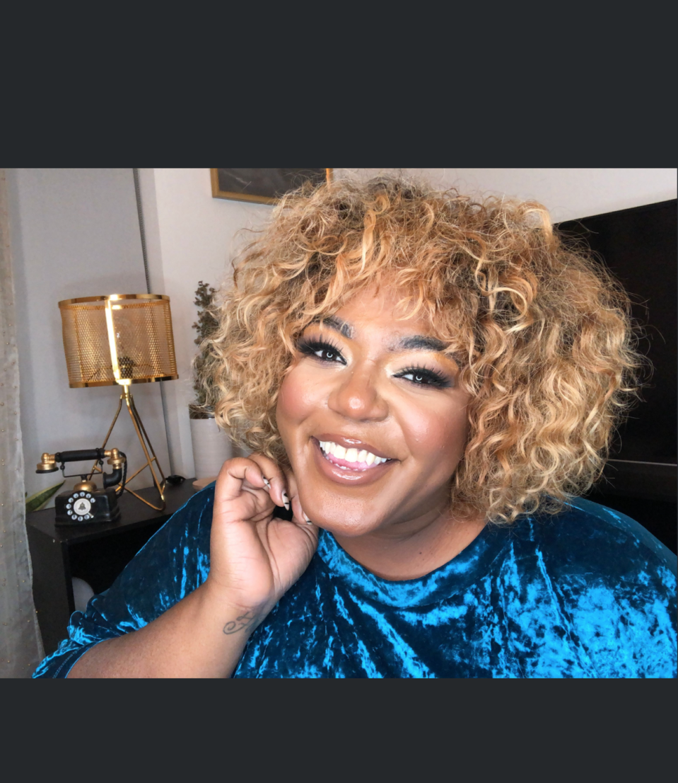 """<p>""""My favorite shade of blonde for myself is somewhere in the honey area,"""" says writer and online host <a href=""""https://thedanielleyoung.com/"""" rel=""""nofollow noopener"""" target=""""_blank"""" data-ylk=""""slk:Danielle Young"""" class=""""link rapid-noclick-resp"""">Danielle Young</a>. She mostly leaves her haircare to the professionals but admits to easy hair assistance as well. """"I am more often than not wearing blonde crochet hairstyles, so that maintains itself,"""" she says.</p>"""