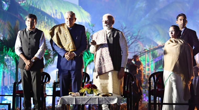 Prime Minister Narendra Modi, PM Modi in Kolkata live updates, West Bengal Governor Jagdeep Dhankhar, West Bengal Cm Mamata Banerjee, PM Modi in West Bengal, Modi in Kolkata, India news, Indian Express