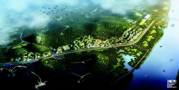 Liuzhou Forest City will span 175 hectares, or 0.67 miles, along the Liujiang River.