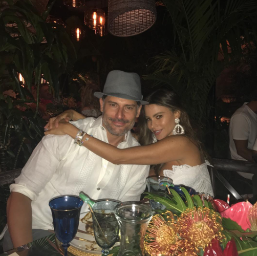 "<p>Just because she was busy playing hostess hardly meant Vergara didn't make time for her better half. She shared a beautiful pic of herself with her real-life main squeeze, Joe <span>Manganiello. </span>(Photo: <a href=""https://www.instagram.com/p/BUsCvlelyuD/"" rel=""nofollow noopener"" target=""_blank"" data-ylk=""slk:Sofia Vergara via Instagram"" class=""link rapid-noclick-resp"">Sofia Vergara via Instagram</a>) </p>"