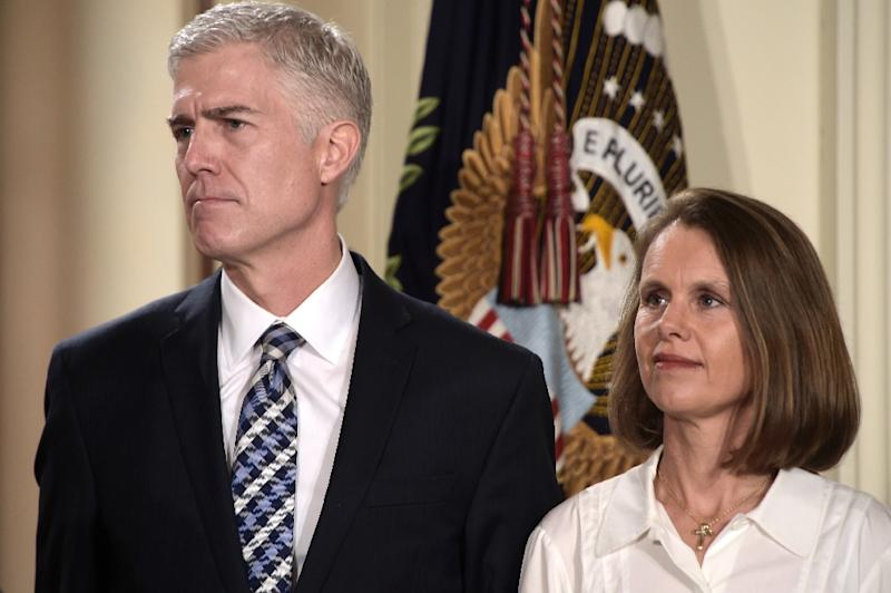 Largely unknown before, Judge Neil Gorsuch, pictured with his wife Marie Louise, has served on the federal Court of Appeals for the 10th Circuit in Denver since 2006