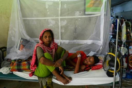 Some dengue patients have been forced to sleep on the floor of wards or in corridors
