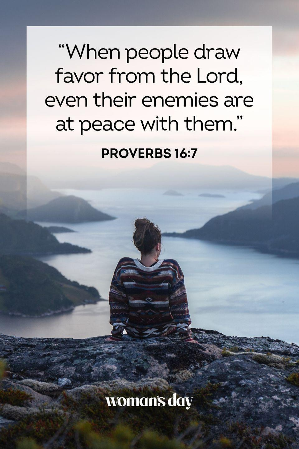 """<p>""""When people draw favor from the Lord, even their enemies are at peace with them."""" — Proverbs 16:7</p><p><strong>The Good News</strong>: There is nothing that can truly hurt those who seek peace by following the Lord. He is watching out for everyone.</p>"""