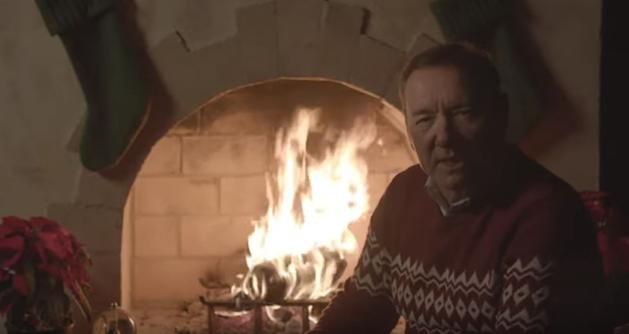 Kevin Spacey posts cryptic Christmas video again as House of Cards character