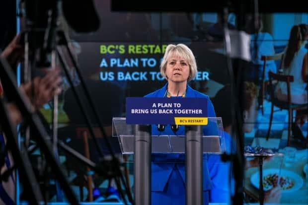Provincial Health Officer Dr. Bonnie Henry announces B.C.'s reopening strategy on May 25, 2021.   (Mike McArthur/CBC - image credit)