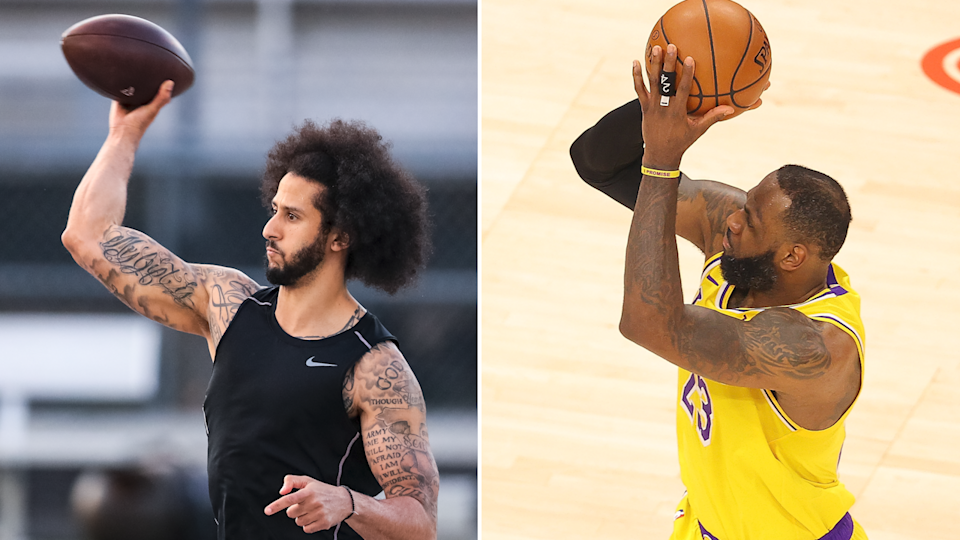 Colin Kaepernick and LeBron James (Photo: Getty)