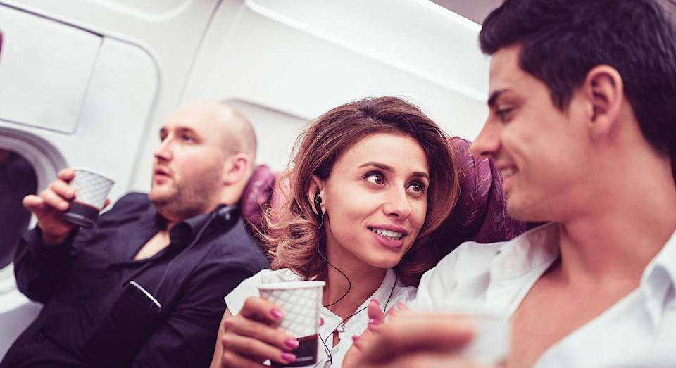 A couple had an unfortunate encounter with a fellow passenger. [Photo: Getty]