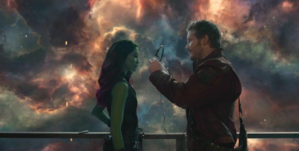"""<p>A group of intergalactic misfits come together, led by Peter Quill (aka Star-Lord), to keep a powerful stone out of the wrong hands — all while listening to '70s Lite-FM tunes. When it came out, <a href=""""https://www.amazon.com/Guardians-Galaxy-Awesome-Mix-Vol-1/dp/B00KLF5J64?tag=syn-yahoo-20&ascsubtag=%5Bartid%7C10055.g.29023076%5Bsrc%7Cyahoo-us"""" rel=""""nofollow noopener"""" target=""""_blank"""" data-ylk=""""slk:the soundtrack to this movie"""" class=""""link rapid-noclick-resp"""">the soundtrack to this movie</a> also <a href=""""https://www.billboard.com/articles/columns/chart-beat/6214496/guardians-of-the-galaxy-soundtrack-no-1-billboard-200"""" rel=""""nofollow noopener"""" target=""""_blank"""" data-ylk=""""slk:hit No. 1 on the Billboard charts"""" class=""""link rapid-noclick-resp"""">hit No. 1 on the <em>Billboard</em> charts</a>. </p><p><a class=""""link rapid-noclick-resp"""" href=""""https://www.amazon.com/Guardians-Galaxy-Theatrical-Chris-Pratt/dp/B00QROH0QK?tag=syn-yahoo-20&ascsubtag=%5Bartid%7C10055.g.29023076%5Bsrc%7Cyahoo-us"""" rel=""""nofollow noopener"""" target=""""_blank"""" data-ylk=""""slk:AMAZON"""">AMAZON</a> <a class=""""link rapid-noclick-resp"""" href=""""https://go.redirectingat.com?id=74968X1596630&url=https%3A%2F%2Fwww.disneyplus.com%2Fmovies%2Fmarvel-studios-guardians-of-the-galaxy%2F1S4WM9h3KRR6&sref=https%3A%2F%2Fwww.goodhousekeeping.com%2Flife%2Fentertainment%2Fg29023076%2Fmarvel-movies-mcu-in-order%2F"""" rel=""""nofollow noopener"""" target=""""_blank"""" data-ylk=""""slk:DISNEY+"""">DISNEY+</a></p>"""
