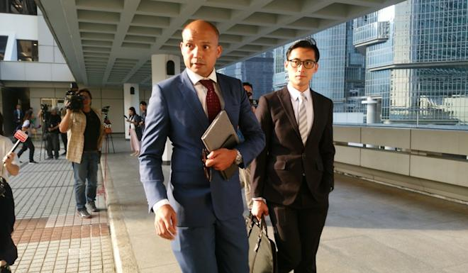In the original hearing Superintendent Swalikh Mohammed, of the Cyber Security and Technology Crime Bureau (left) said he believed the injunction would not affect media. Photo: Brian Wong