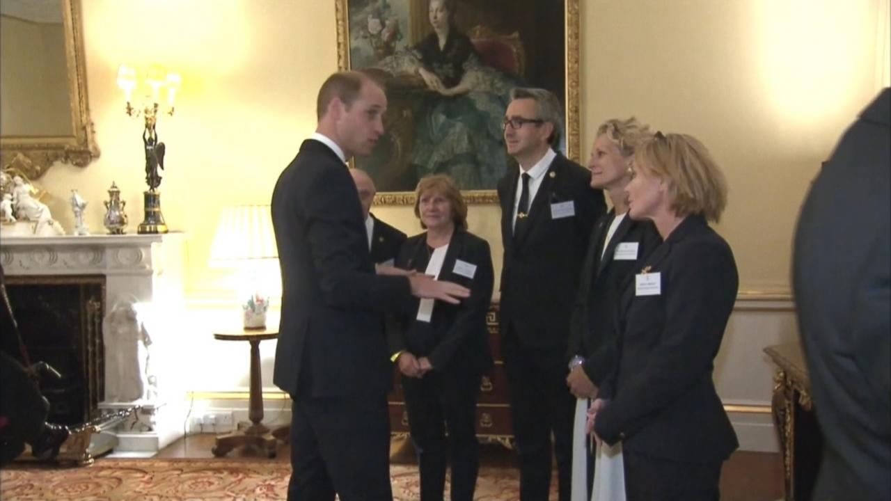 William and Kate joined Prince Harry and Queen Elizabeth II at a Buckingham Palace reception for British Olympic and Paralympic athletes.