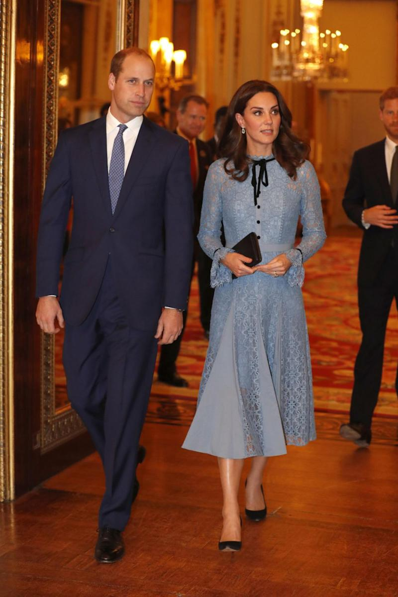 She was seen last week at an event in Buckingham Palace with Prince William. Photo: Getty Images