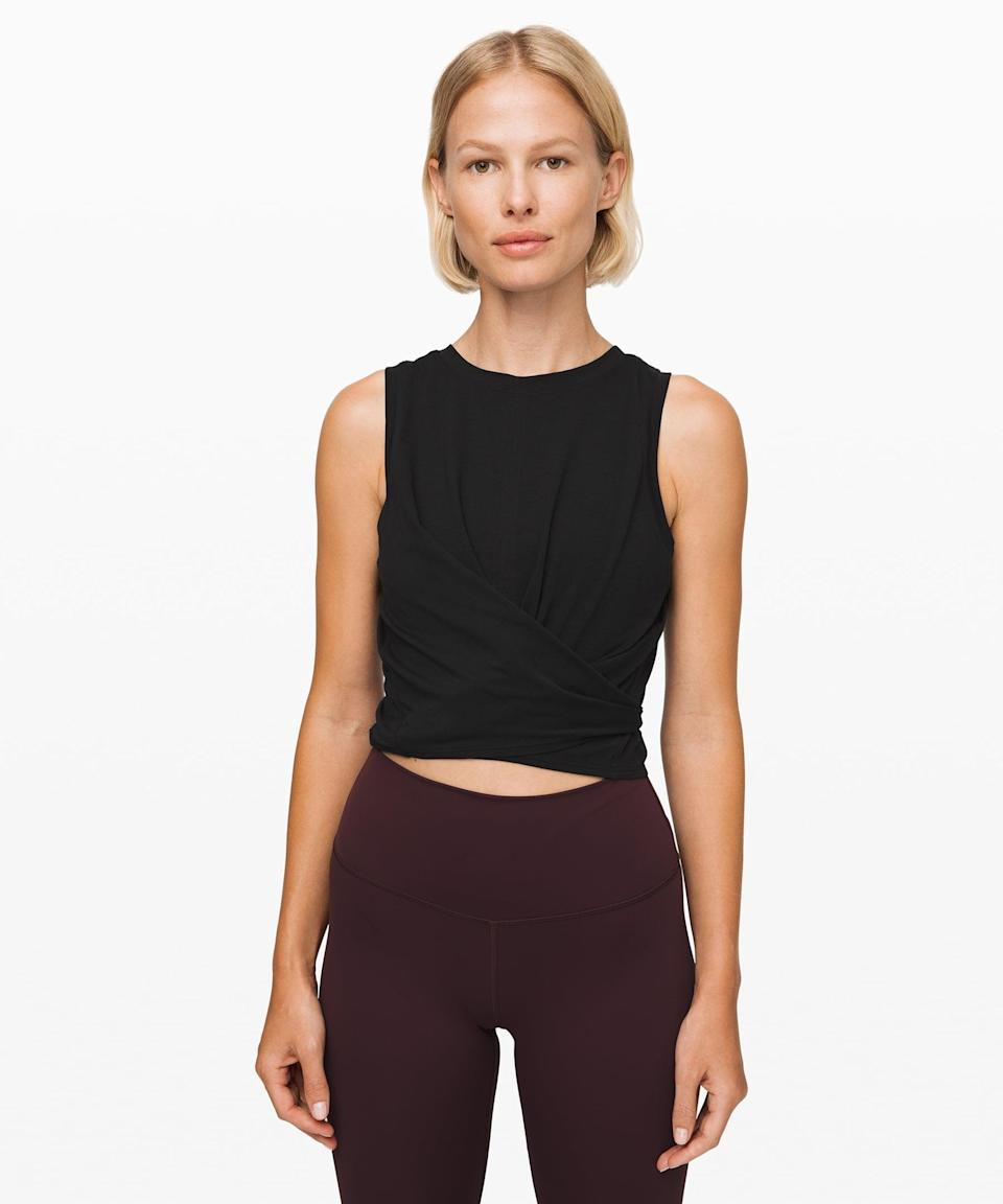 <p>This <span>Lululemon Time to Restore Tank</span> ($29, originally $54) is a workout staple.</p>
