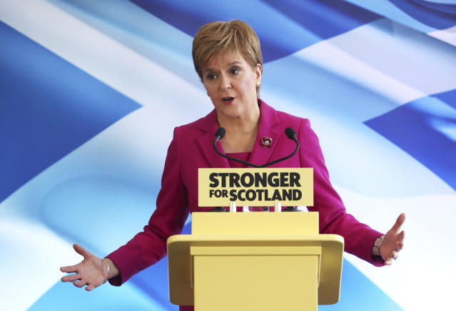 SNP leader Nicola Sturgeon wants a second independence referendum in the wake of Brexit (AP)