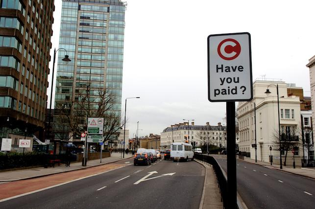 The Congestion Charge in London gets extended on February 19, 2007 to include some of the areas of Chelsea  and Kensington. PRESS ASSOCIATION Photo. Picture date: Tuesday February 13, 2007. See PA story. Photo credit should read: Steve Parsons/PA
