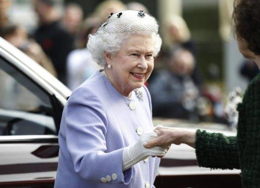 Queen Elizabeth II at the Chelsea Flower Show in London on May 21. The queen is only the second British monarch to celebrate a diamond jubilee, after queen Victoria