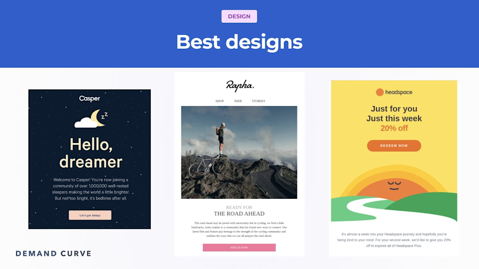 Design your emails to appeal to all kinds of readers