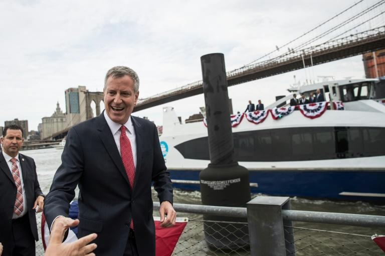 "New York mayor Bill de Blasio denounced Trump's ""illogical and unconstitutional desire to scapegoat immigrants"""