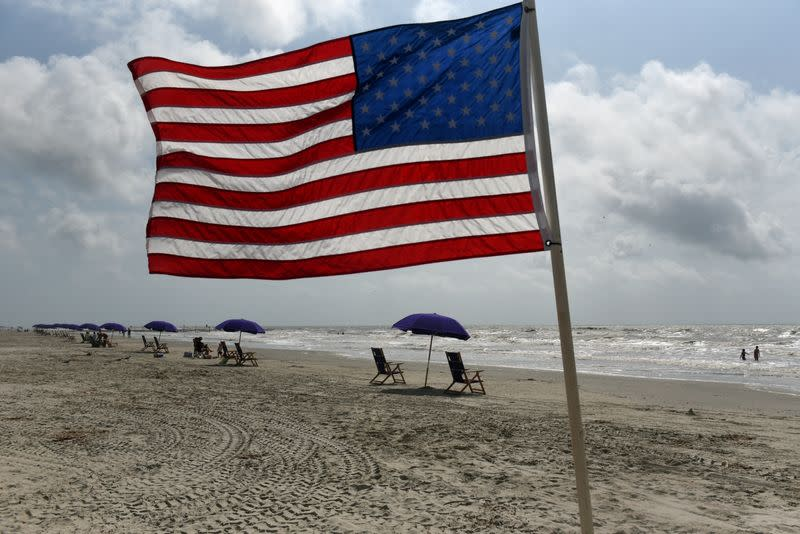 FILE PHOTO: Rental companies prepare for crowds after the coronavirus disease (COVID-19) restrictions were lifted at the beginning of May, at the start of the Memorial Day weekend in Galveston