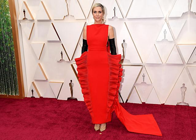 Kristen Wiig pictured at last night's Oscars. [Photo: Getty]