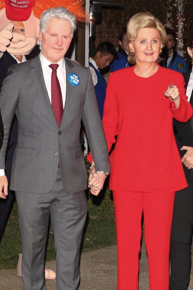 <p>Orlando Bloom and Katy Perry as Bill and Hillary Clinton.</p>