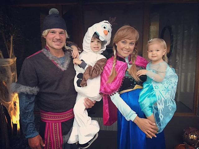 "<p>The parents of two stepped as out as Kristoff and Anna from Disney's <i>Frozen</i>. Their two kids, 4-year-old son Camden and 22-month-old daughter Brooklyn, made the perfect Olaf and Elsa. (Photo: <a href=""https://www.instagram.com/p/BMQHjZTjRz4/?taken-by=vanessalachey&hl=en"" rel=""nofollow noopener"" target=""_blank"" data-ylk=""slk:Instagram"" class=""link rapid-noclick-resp"">Instagram</a>) </p>"