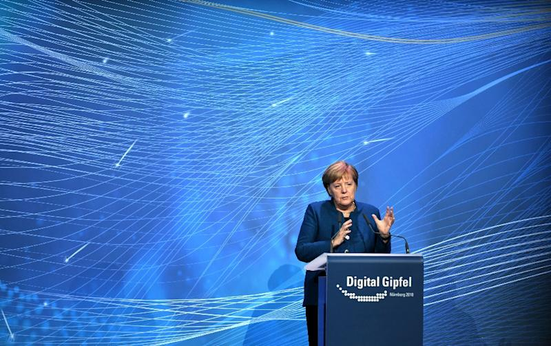 German Chancellor Angela Merkel, speaking at the Digital Summit in Nuremberg, said technological advances were revolutionising the workplace, and Germany's small- and medium-sized enterprises could not afford to miss the boat