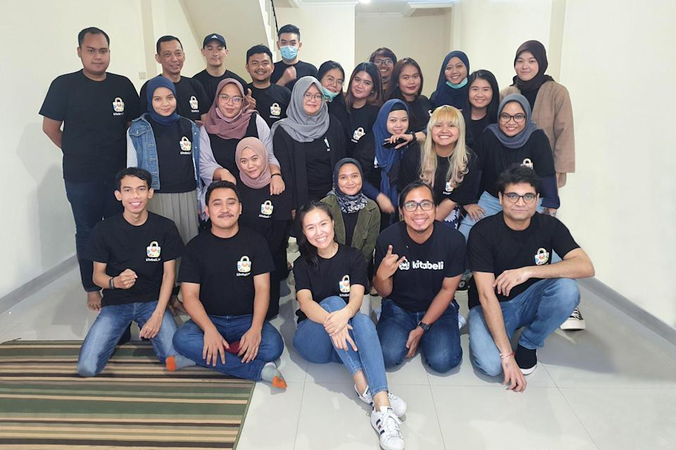 Indonesian social commerce app KitaBeli's team, including