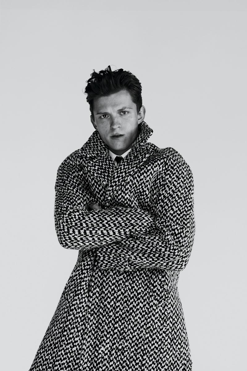 Tom Holland photographed by Fanny Latour-Lambert for GQ Style, Fall/Winter 2019