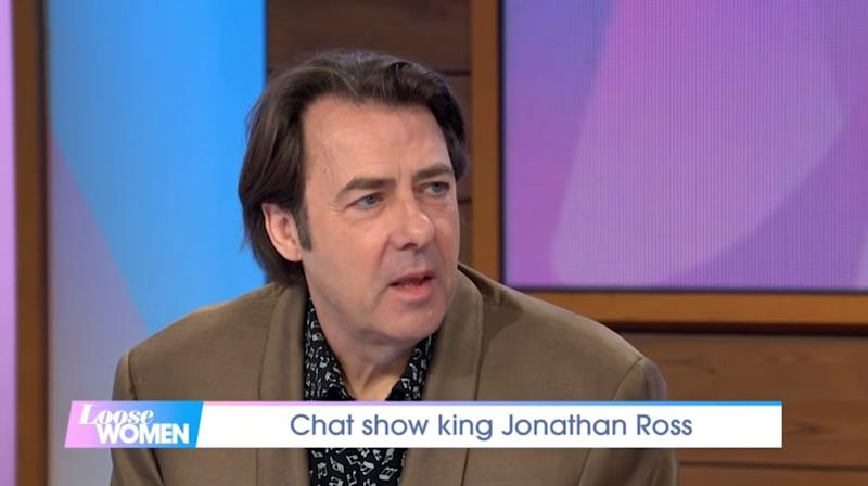 Jonathan Ross opened up about his mother's death on 'Loose Women' (ITV/YouTube)