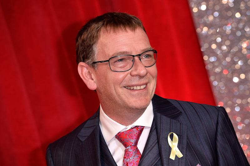 MANCHESTER, ENGLAND - JUNE 03: Adam Woodyatt attends The British Soap Awards at The Lowry Theatre on June 3, 2017 in Manchester, England. The Soap Awards will be aired on June 6 on ITV at 8pm. (Photo by Jeff Spicer/Getty Images)
