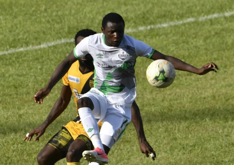 A five-minute hat-trick scored by Zambian Lazarous Kambole (F) two years ago is the fastest in a CAF club match (AFP Photo/ISSOUF SANOGO)