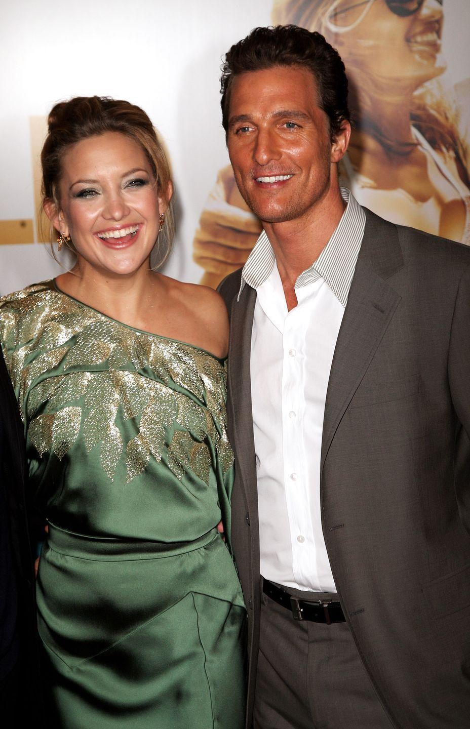 "<p>On an episode of Gwyneth Paltrow's <em>Goop</em> <a href=""https://www.marieclaire.com/celebrity/a34380451/kate-hudson-gwyneth-paltrow-worst-on-screen-kisses/"" rel=""nofollow noopener"" target=""_blank"" data-ylk=""slk:podcast"" class=""link rapid-noclick-resp"">podcast</a>, rom-com queen Kate Hudson opened up about who she shared her worst on-screen kiss with. The answer? Matthew McConaughey! </p><p>""The thing is, every time I kiss McConaughey, it's like, I mean, it's like there's just something happening and there's like snot or wind, or things are just...like when we were kissing in the end of <em>Fool's Gold</em>, we're like in the ocean, we like had the plane crash,"" she told Paltrow. ""He just had snot all over his face.""</p>"