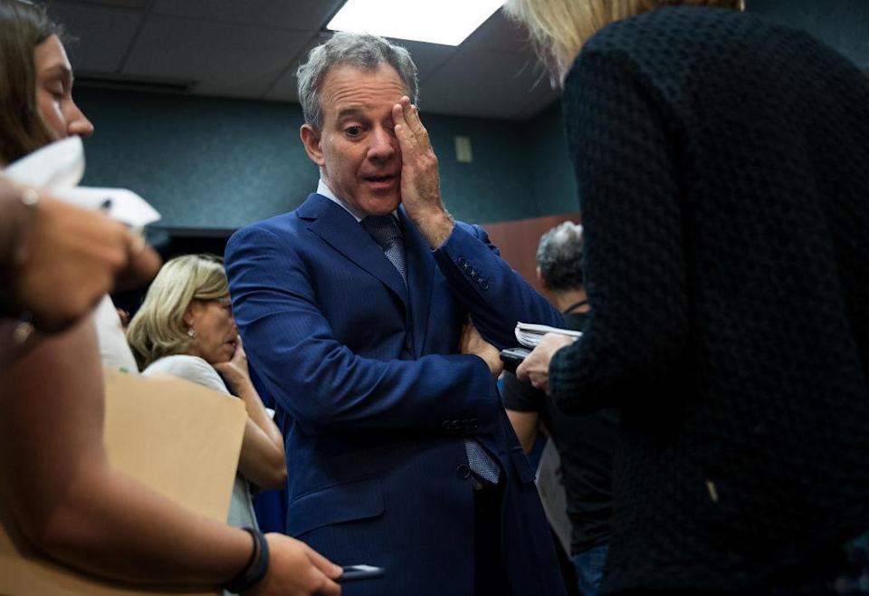New York state Attorney General Eric Schneiderman, seen here during a 2017 press conference about immigration. (Photo: Drew Angerer/Getty Images)