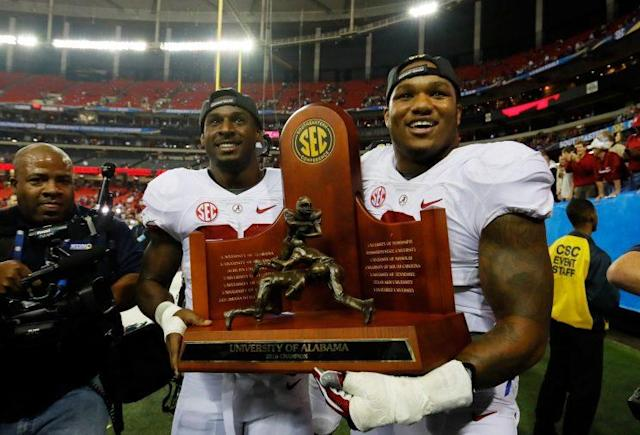 Alabama is favored to win a fourth-straight SEC title. (Getty)