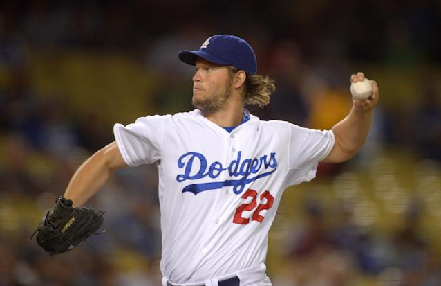 Los Angeles Dodgers starting pitcher Clayton Kershaw throws to a Colorado Rockies batter during the first inning of a baseball game, Friday, Sept. 27, 2013, in Los Angeles. (AP Photo/Mark J. Terrill)