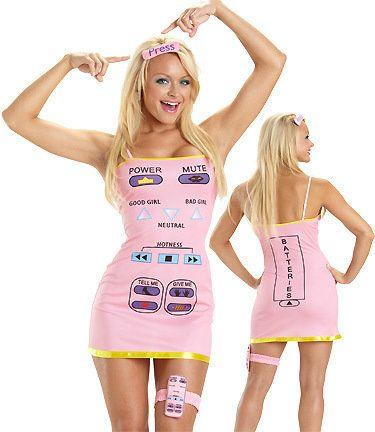 """We don't like to judge but, frankly, dressing up as a TV<a href=""""https://www.3wishes.com/sexy-costumes/all-american-costumes/sexy-remote-control-her-costume/"""" target=""""_blank"""">remote control </a>is problematic. Remember, the remote control often becomes stuck between couch cushions."""
