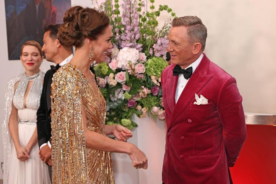 The Duchess of Cambridge was complimented on her outfit by Daniel Craig (Chris Jackson/PA) (PA Wire)