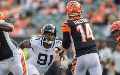 <span>Andy Dalton and the Bengals threw away a great chance against the Jaguars</span> <span>Credit: USA Today </span>
