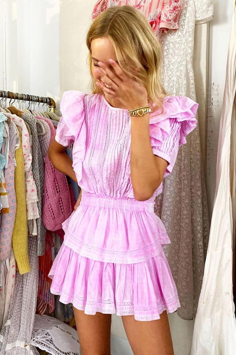 <p>Think pink in this fun, flattering <span>LoveShackFancy Natasha Dress</span> ($295). If they're going on vacation, they'll want to wear this every day of their trip.</p>