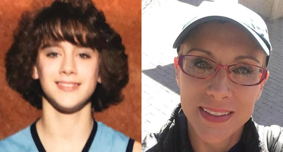 Chantelle Hobgood as a teen, left, which is when she was diagnosed with multiple sclerosis, and now as an adult dealing with the disease. (Photo courtesy of Chantelle Hobgood)