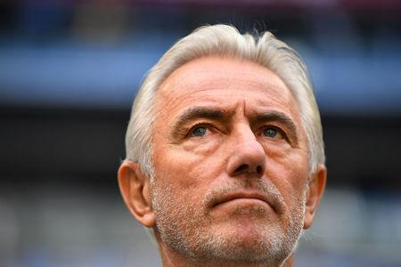 Soccer Football - World Cup - Group C - Denmark vs Australia - Samara Arena, Samara, Russia - June 21, 2018 Australia coach Bert van Marwijk before the match REUTERS/Dylan Martinez
