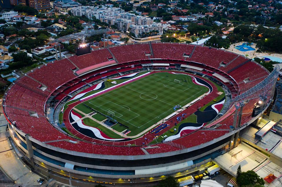 SAO PAULO, BRAZIL - FEBRUARY 25: General view of Morumbi Stadium before a match between Sao Paulo and Flamengo as part of 2020 Brasileirao Series A on February 25, 2021 in Sao Paulo, Brazil. (Photo by Buda Mendes/Getty Images)