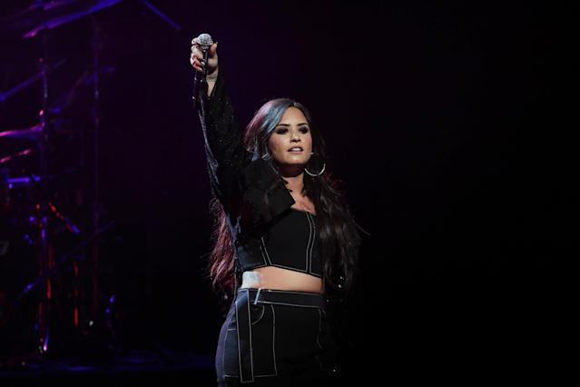 Demi Lovato performing at New York City Center on Jan. 24, 2018. (Photo: Getty Images)