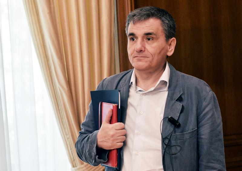 Greek finance minister Euclid Tsakalotos, pictured on June 3, 2016, is responsible for guiding Greece back on to its feet after six nearly uninterrupted years of recession